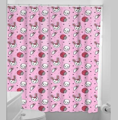 Sourpuss Zombie Bunnies Shower Curtain - Cobalt Heights