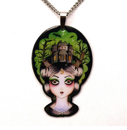 Jubly Umph Lila The Haunted House Lady Necklace - Cobalt Heights