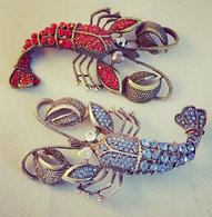 Crystal Lobster Brooch - Cobalt Heights