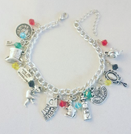 Deluxe Alice In Wonderland Inspired Charm Bracelet - Cobalt Heights