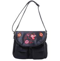 Sourpuss Black Panther Nomad Purse - Cobalt Heights