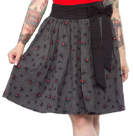 Sourpuss Spider Swing Skirt - Cobalt Heights