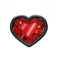 Jubly Umph Crystal Heart Brooch - Cobalt Heights