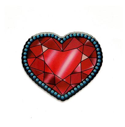Jubly Umph Crystal Heart Brooch - Cobalt Heights