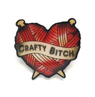 Jubly Umph Crafty Bitch Brooch - Cobalt Heights