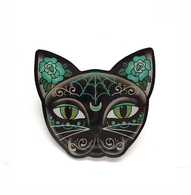 Jubly Umph Luna Black Kitty Brooch