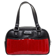 Sourpuss Red Glitter Sabrina Purse - Cobalt Heights