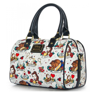 Loungefly X Disney Beauty and the Beast Tattoo Pebble Handbag - Cobalt Heights