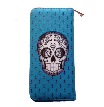 Jubly Umph Cobweb Skull Wallet - Cobalt Heights