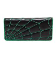 Sourpuss Spiderweb Wallet - Green - Cobalt Heights