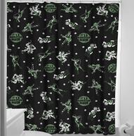 Sourpuss Monster Mosh Shower Curtain - Cobalt Heights