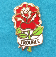 Jubly Umph Here Comes Trouble Lapel Pin - Cobalt Heights