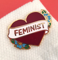 Jubly Umph Feminist Heart Lapel Pin - Cobalt Heights