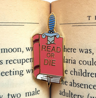 Jubly Umph Read Or Die Lapel Pin - Cobalt Heights