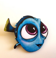 Hungry Designs Baby Dory Brooch - Cobalt Heights