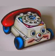 Hungry Designs Chatter Telephone Brooch - Cobalt Heights