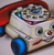 Hungry Designs Chatter Telephone Brooch - Close Up - Cobalt Heights