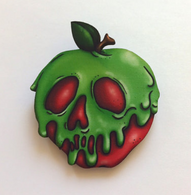 Hungry Designs Poisoned Apple Brooch - Cobalt Heights