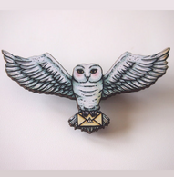 Hungry Designs Hedwig Brooch - Cobalt Heights