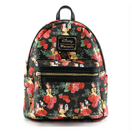 Loungefly X Disney Beauty and the Beast Belle Rose Mini Backpack - Cobalt Heights