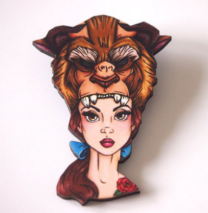 Hungry Designs Hunted Belle Brooch - Cobalt Heights