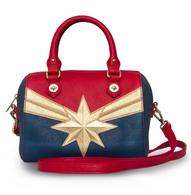 Loungefly X Marvel Captain Marvel Handbag - Cobalt Heights