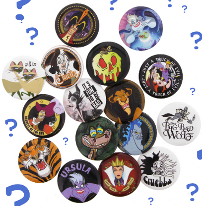 Loungefly X Disney Villains Pins - Random Pack Of 3 - Cobalt Heights