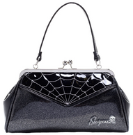 Sourpuss Spiderweb Backseat Baby Purse - Grey - Cobalt Heights