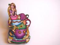 Hungry Designs Teacup Rapunzel Brooch - Cobalt Heights