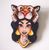 Hungry Designs Hunted Jasmine Brooch - Cobalt Heights