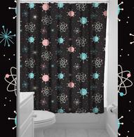 Sourpuss Sputnik Shower Curtain - Cobalt Heights
