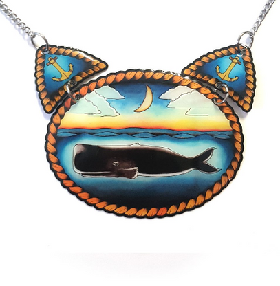 Jubly Umph The Whale Statement Necklace - Cobalt Heights