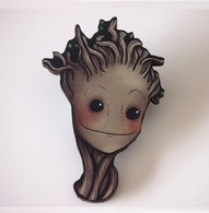 Hungry Designs Baby Groot Brooch - Cobalt Heights