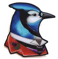 Jubly Umph Jay M Barrie Brooch - Cobalt Heights