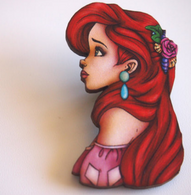 Hungry Designs Pink Ariel Brooch - Cobalt Heights
