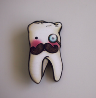 Hungry Designs Wisdom Tooth Brooch - Cobalt Heights