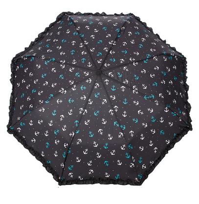 Sourpuss Nautical Anchor Umbrella - Cobalt Heights