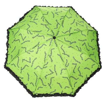 Sourpuss Stitches Umbrella - Cobalt Heights