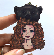 Hungry Designs Hunted Merida Brooch - Cobalt Heights