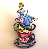 Hungry Designs Teacup Cinderella Brooch - Cobalt Heights