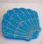 Hungry Designs Blue Mermaid Shell Brooch - Flat - Cobalt Heights