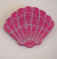 Hungry Designs Pink Mermaid Shell Brooch - Cobalt Heights