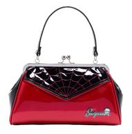 Sourpuss Spiderweb Backseat Baby Purse - Red - Cobalt Heights