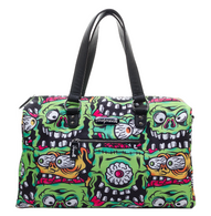 Sourpuss Fink Faces Travel Bag - Cobalt Heights
