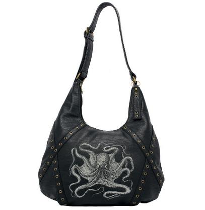 Sourpuss Octopus Hobo Purse - Cobalt Heights