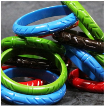 Los Flamingo The Carved Willow Bangle - 4 Colours Available! - Cobalt Heights
