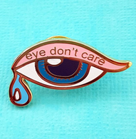 Jubly Umph Eye Don't Care Lapel Pin - Cobalt Heights