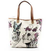 Loungefly X Marvel Groot Floral Tote Handbag - Cobalt Heights