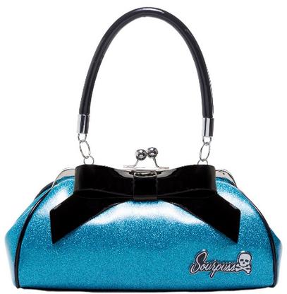 Sourpuss Floozy Purse - Glitter Turquoise - Cobalt Heights