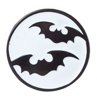 Sourpuss Bat Moon Lapel Pin - Cobalt Heights